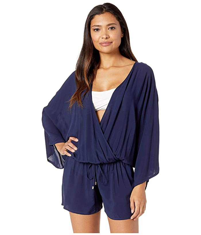 Vince Camuto Surf Shades Cover-Up Romper (Deep Sea) Women