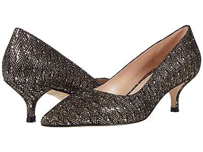 Stuart Weitzman Cindy 45 Kitten Heel (Gold) Women