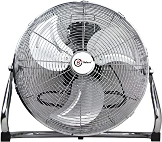 """Belaco Metal floor fan 18"""" High velocity chrome free stand fan cooling fan industrial fan 3 speed desk fan table fan sturd..."""