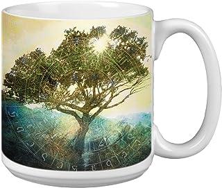Tree of Time Extra Large Mug, 20-Ounce Jumbo Ceramic Coffee Mug Cup, Nature Themed Elena Ray Art, Gift for Coffee Lovers T...