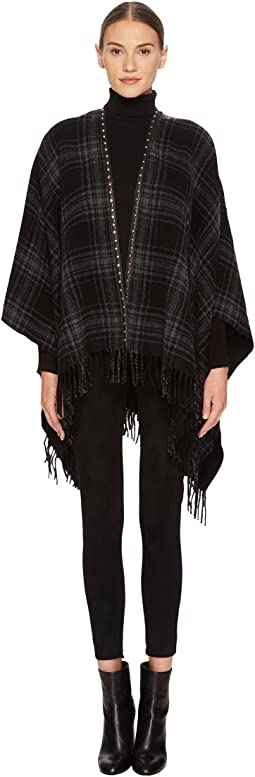 The Kooples - Check-Pattern Poncho