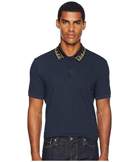 Versace Collection Key Detail Collar Polo
