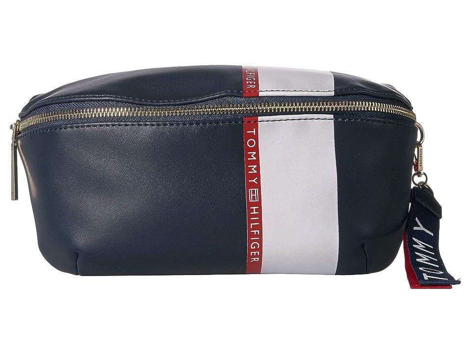 Tommy Hilfiger Ruby Belt Bag (Navy/Red/White) Handbags, Blue