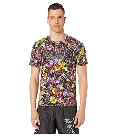 Moschino Flowers and Harness T-Shirt