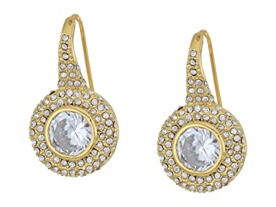 Vince Camuto Round Pave Earrings (Gold/Crystal) Earring