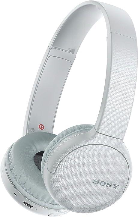 Sony wh-ch510 - cuffie wireless on-ear, compatibile con google assistant e siri WHCH510W.CE7