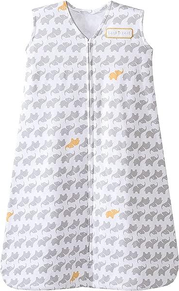 HALO Sleepsack 100 Cotton Wearable Blanket Gray Elephant Graphics X Large