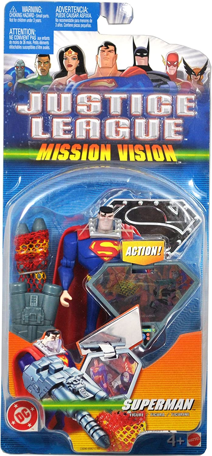 DC Comics Year 2003 Justice League Mission Vision Series 4-1 2 Inch Tall Action Figure - SUPERMAN with Face Shield, Net Launchers with Net and Mission Shield by Mattel B003Y68XZQ Moderater Preis     | Up-to-date-styling