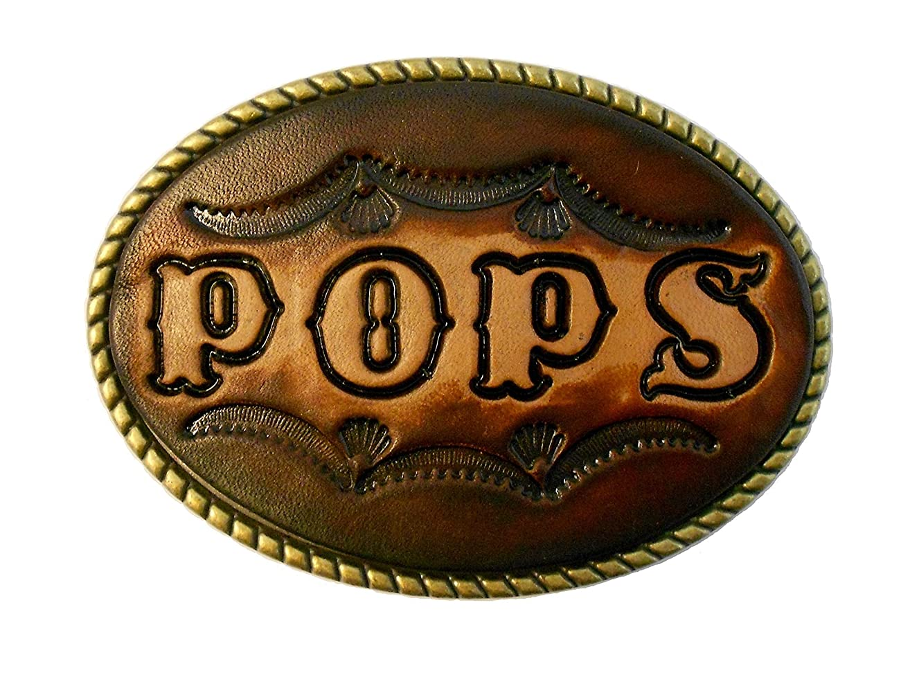 Large Custom Tooled Leather Belt Buckle, MADE to ORDER, Names or Initials Up to 7 Letters