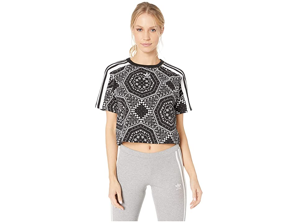 adidas Originals Crop Tee (Black/White) Women