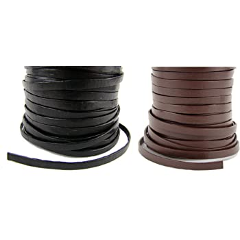 10 mètres cordon cuir lacet cuir noir 1,5 mm