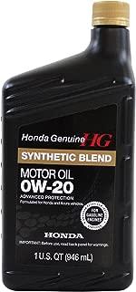 Genuine Honda Fluid 08798-9036 0W-20 Full Synthetic Blend Motor Oil - 1 Quart Bottle