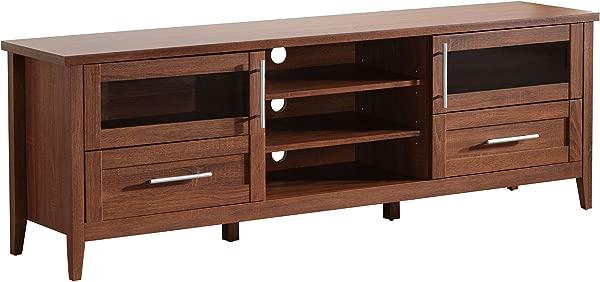 Techni Mobili RTA 8818 OAK Modern Storage Stand For TVs Up To 75 71 W X 15 75 D X 24 H Oak