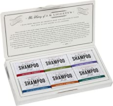 J·R·LIGGETT'S All-Natural 6 Variety Shampoo Bars .65oz. Sampler Pack, Support Strong and Healthy Hair-Nourish Follicles wi...