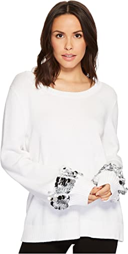 MICHAEL Michael Kors - Sequin Cuff Sweater