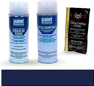 PAINTSCRATCH Imperial Blue Metallic 37U/WA403P for 2011 GMC Sierra - Touch Up Paint Spray Can Kit - Original Factory OEM Automotive Paint - Color Match Guaranteed