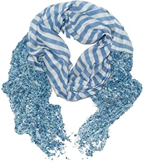 Icon Collection Fashion Wrap Scarf Long Soft Light Womens & Girls Fringe Scarves