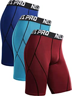 Neleus Men's Compression Shorts Pack of 3