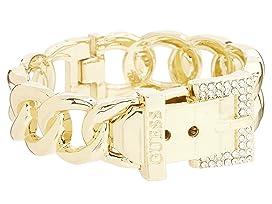 Buckle Hinge Frozen Chain Bracelet w/ Pave Accent