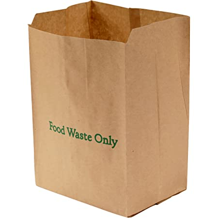 Ecosack 75x 8 L Paper Compostable Kitchen Caddy Bags