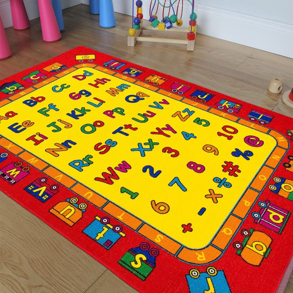 Kids Baby Room Daycare In a popularity Classroom Area Bargain Playroom Rug. Alphabet ABC