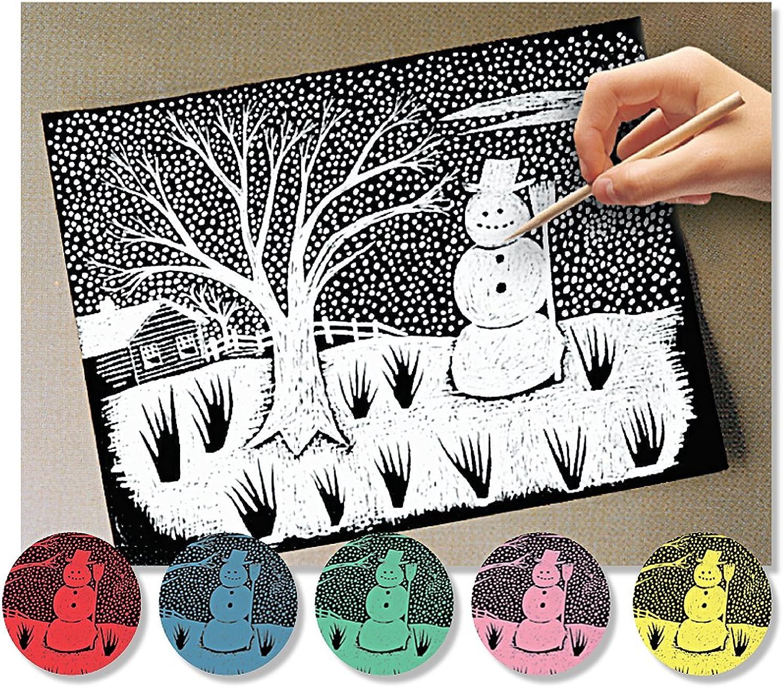 Melissa & Doug Scratch Art Paper  60 Sheets, 6 colors