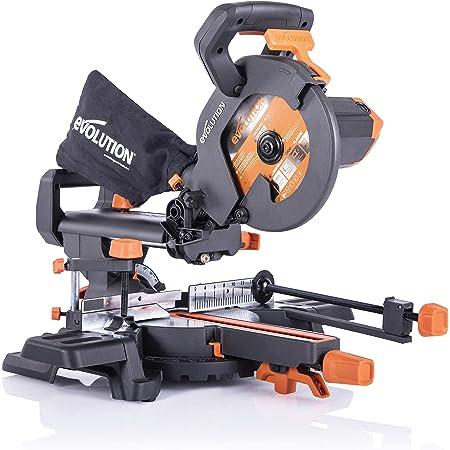 Evolution Power Tools R210SMS+ Troncatrice Radiale Scorrevole Multi-Materiale 210 mm con Pacchetto Plus, 230 V