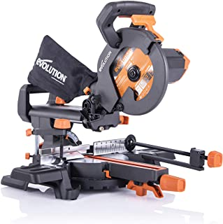 Evolution Power Tools R210SMS+ Troncatrice Radiale Scorrevole Multi-Materiale 210 mm con Pacchetto Plus, 230 V