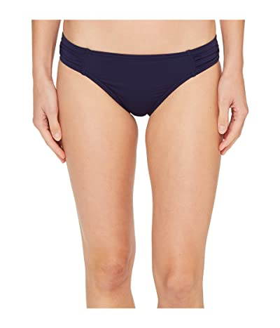 Tommy Bahama Pearl Side-Shirred Hipster Bikini Bottom (Mare Navy) Women