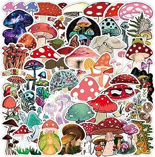 Cute Mushroom Stickers for Water Bottle, Skateboard, Laptop, Computer, Phone, Trendy Decal for Teen Bike, Travel Case, Gui...