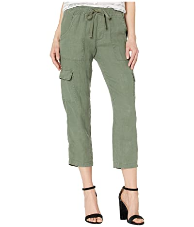 Sanctuary Discover Pull-On Linen Cargo Pants (Peace Green) Women