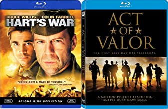 America's Bravest Act of Valor 2 Blu-Ray Bundle & Hart's War Double Feature Movie Bundle