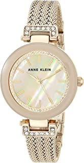 Anne Klein Womens Quartz Watch, Analog Display and Stainless Steel Strap