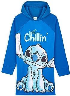Disney Sweats à Capuche Fille - Pull Enfant Fille Long Oversize Stitch