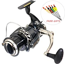 Cando(SUB-Brand of TICA Aluminum Fishing Spinning Reel-8.82 LBs Max Drag -6RRB+1RB with 2g/3g/4g/5g Fishing Floats for Saltwater Freshwater