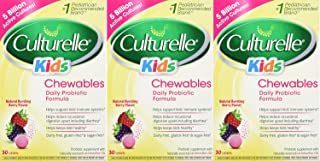 Culturelle Kids! Chewables Probiotic, For Kids 50-100lbs, Tablets, Berry, 30 ea Pack of 2 3.00