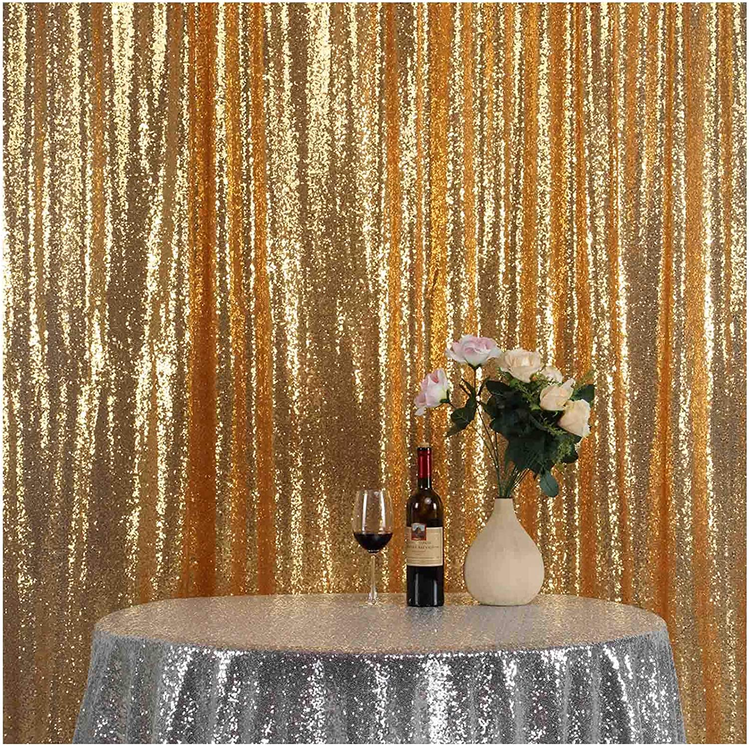 270x275cm Pocket 9x9FT LQIAO Shiny Sequin Backdrop Background 9FTx9FT-Navy Blue,Sequin Curtain Backdrop Photo Booth Wedding Props Glitter Party Background Decoration