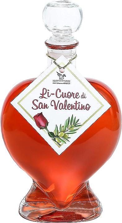 Liquore di san valentino * infuso di foglie di ulivo * infuso di boccioli di rose B084N89WHS