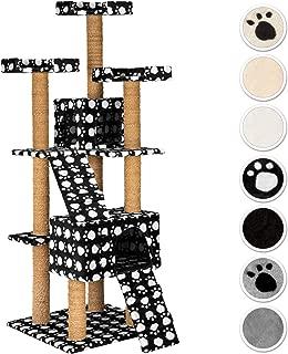 TecTake Rascador Árbol para Gatos 169 cm de Altura (Negro