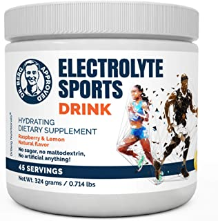 Dr. Berg's Original Sports Drink, for High Energy Workouts, Replenish & Rejuvenate Your Cells (45 Servings), Made in The U...