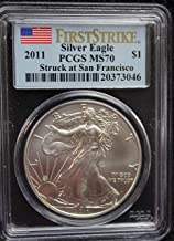 2011 S America Silver Eagle First Strike $1 MS70 - The Perfect Coin - PCGS