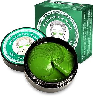 Sponsored Ad - Under Eye Masks,Collagen Hyaluronic Acid Under Eye Patches Supplement Vitamin Green Seaweed Eye Masks for D...