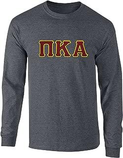Fashion Greek Pi Kappa Alpha Twill Letter Long Sleeve T Shirt