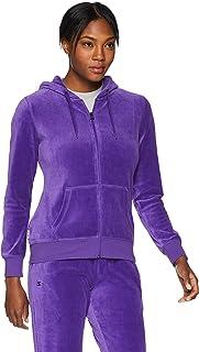 STARTER Women's Velour Track Jacket with Hood, Amazon Exclusive