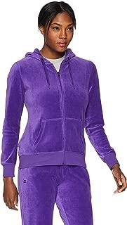 Women's Velour Track Jacket with Hood, Amazon Exclusive