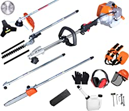 PROYAMA Powerful 42.7cc 5 in 1 Multi functional Trimming Tools,Gas Hedge Trimmer,String..