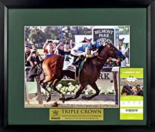 American Pharoah Belmont Stakes Triple Crown 11x14 Photo w/ Replica Ticket Framed
