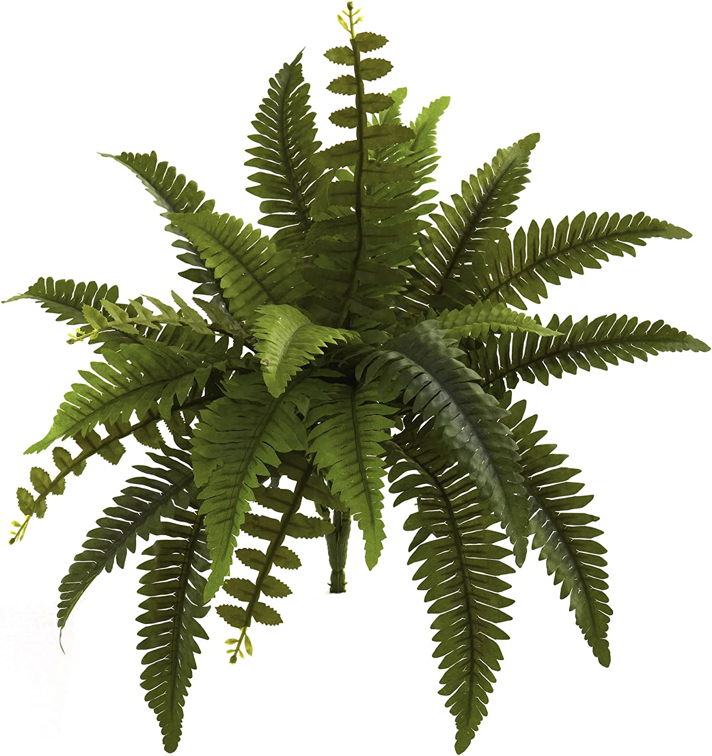 "Nearly Natural 6125-S6 14"" Boston Fern (Set of 6) Artificial Plant, Green"