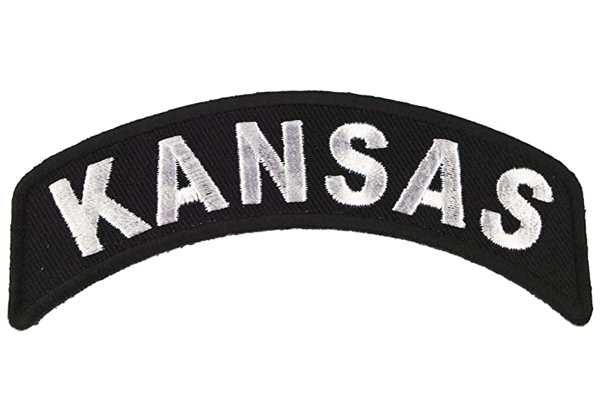 Kansas State Rocker Iron or Sew on Embroidered Shoulder Patch D37