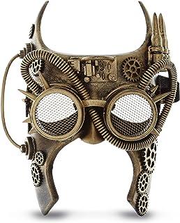 Attitude Studio Steampunk Gladiator Half Face Mask Robot Goggles Costume